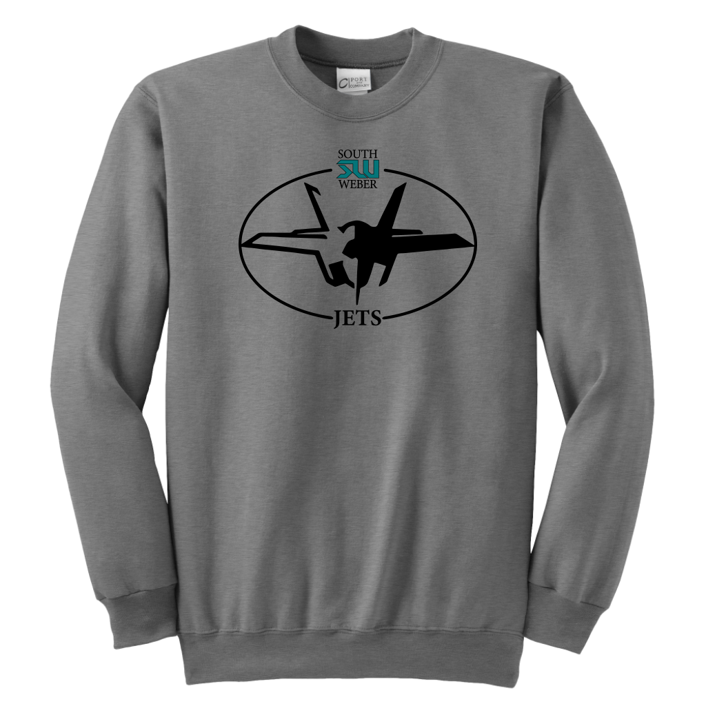 Youth South Weber Jets Grey Sweatshirt