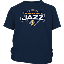 Load image into Gallery viewer, Youth Wheelin' Jazz Personalized T-Shirt