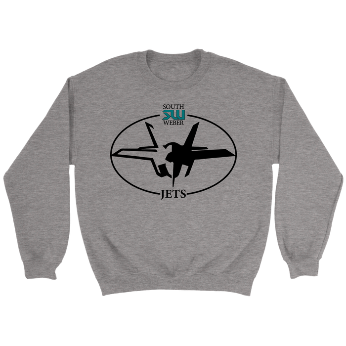 Adult South Weber Jets Grey Sweatshirt