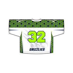 Youth Official Copper Hills Grizzlies Lacrosse Reversible Game Uniform Bundle