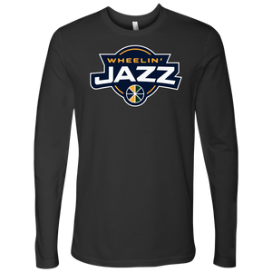 Adult Wheelin' Jazz Personalized Long Sleeve Shirt