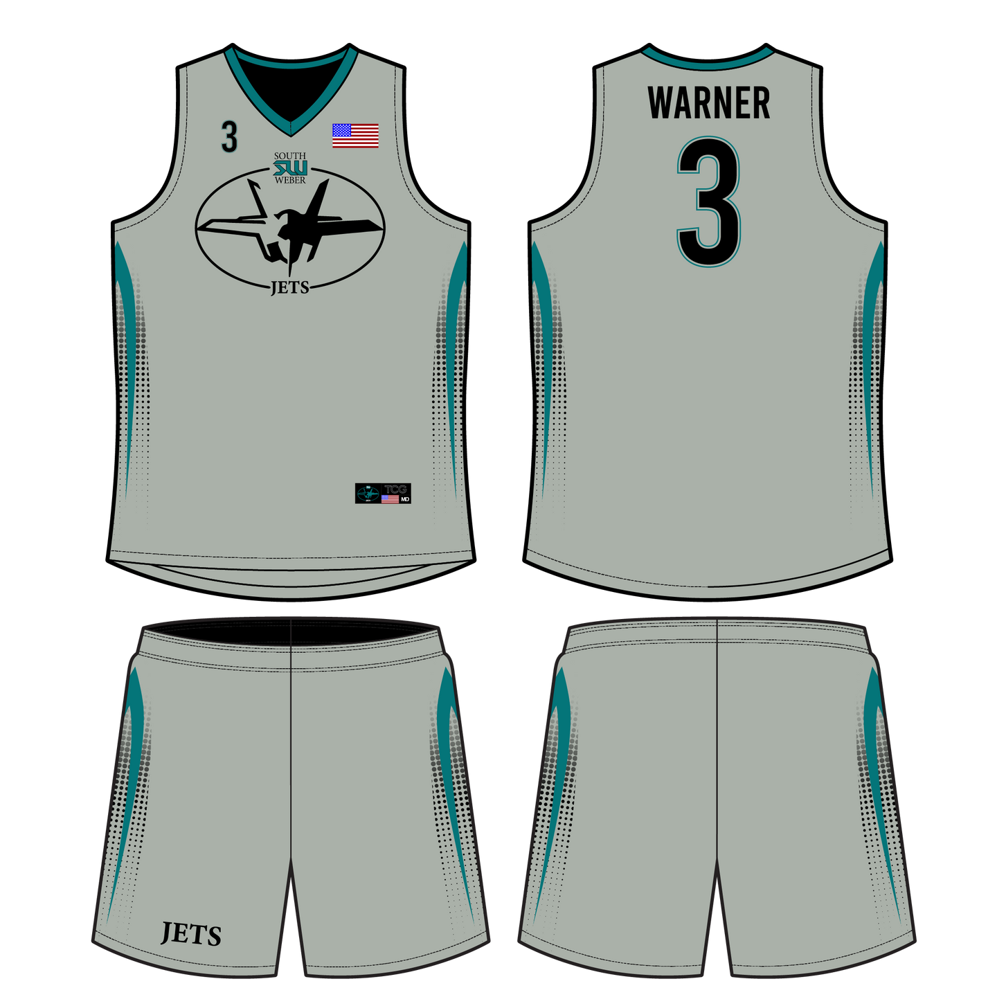 Youth South Weber Reversible Basketball Uniform
