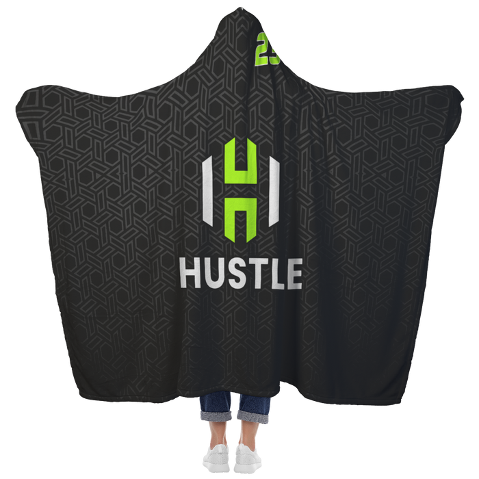 Utah Hustle Premium Hooded Sherpa Blanket with Personalized Mittens