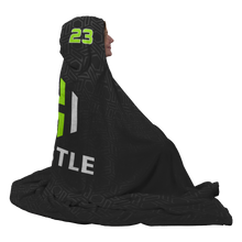 Load image into Gallery viewer, Utah Hustle Premium Hooded Sherpa Blanket with Personalized Mittens
