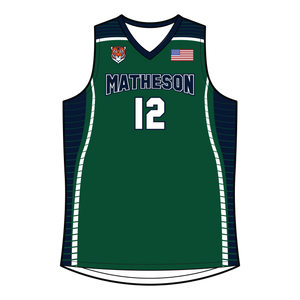 Youth Matheson Junior High School Reversible Basketball Jersey