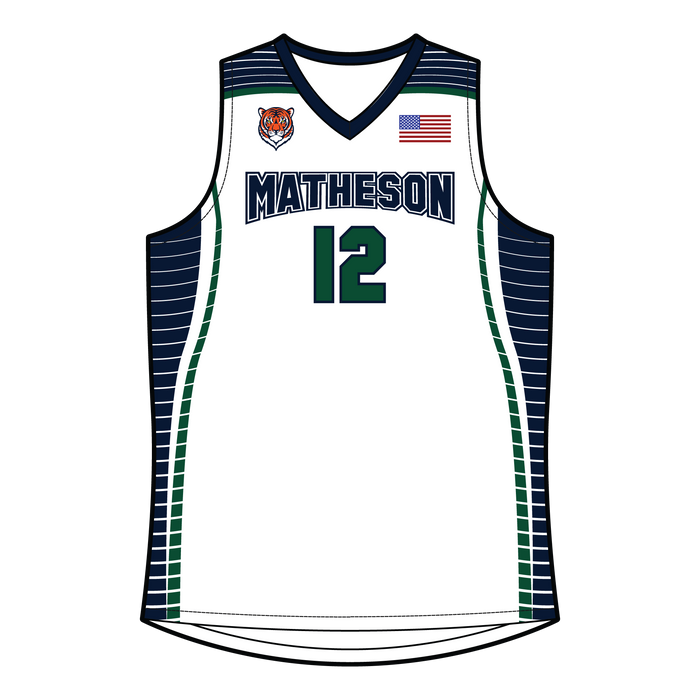 Men's Matheson Junior High School Reversible Basketball Jersey