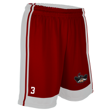 Load image into Gallery viewer, Women's SLC Rebels Reversible RED-WHITE Basketball Short