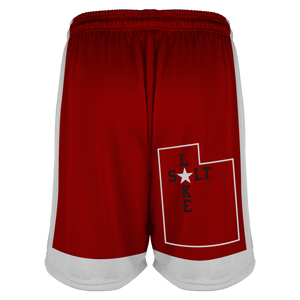 Women's SLC Rebels Reversible RED-WHITE Basketball Short