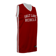 Load image into Gallery viewer, Youth SLC Rebels Reversible RED-WHITE Basketball Jersey