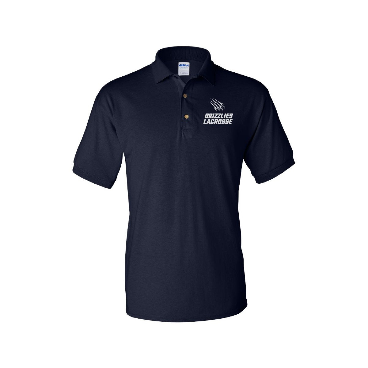 Men's Grizzlies Lacrosse Embroidered Polo