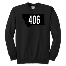 Load image into Gallery viewer, Youth Montana Rebels 406 Sweatshirt