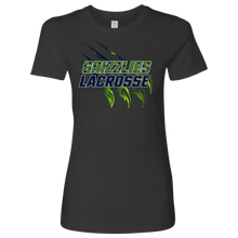 Load image into Gallery viewer, Premium Women's Copper Hills Grizzlies Lacrosse Personalized T-Shirt