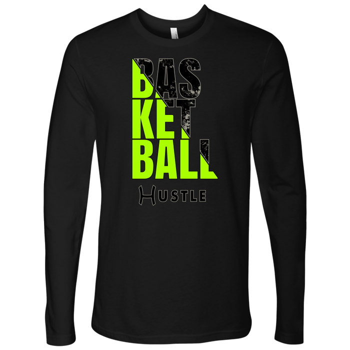Adult Hustle Basketball Personalized Long Sleeve Shirt