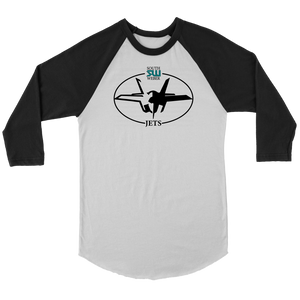 Adult South Weber Jets 3/4 Raglan Shirt
