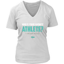 Load image into Gallery viewer, Women IDA Favorite Athlete V-Neck T-Shirt