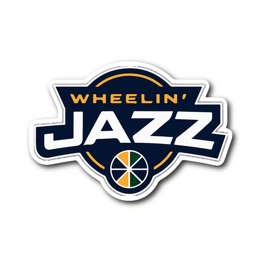 Official Wheelin' Jazz Sticker