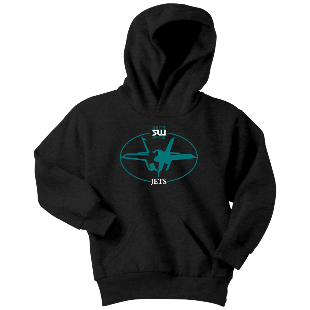 Youth South Weber Jets Black Hoodie