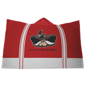 Classic Red Salt Lake Rebels Premium Hooded Sherpa Blanket with Personalized Mittens