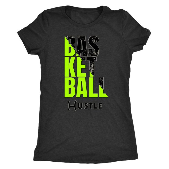 Women's Triblend Hustle Basketball Personalized T-Shirt
