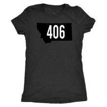 Load image into Gallery viewer, Women's Montana Rebels 406 Premium Triblend T-Shirt