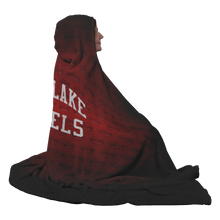 Load image into Gallery viewer, Salt Lake Rebels Mascot Premium Hooded Sherpa Blanket with Personalized Mittens