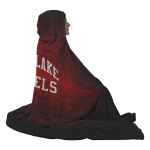 Salt Lake Rebels Mascot Premium Hooded Sherpa Blanket with Personalized Mittens