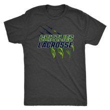 Load image into Gallery viewer, Men's Triblend Copper Hills Grizzlies Lacrosse T-Shirt