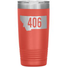 Load image into Gallery viewer, Montana Rebels 406 20oz Tumbler