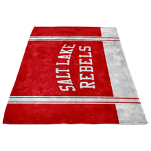 Load image into Gallery viewer, Classic Red Salt Lake Rebels Sherpa Blanket