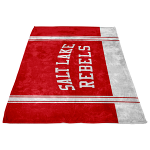 Classic Red Salt Lake Rebels Sherpa Blanket