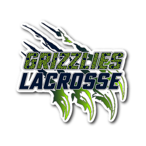Official Copper Hills Grizzlies Lacrosse Sticker