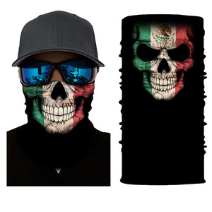 Mexico Skull With Flag