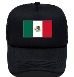 Custom Mexico Flag Hat Black