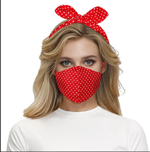 Red bow tie mask