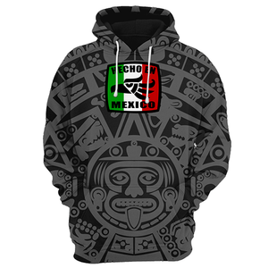 Hecho En Mexico Black With Gray Light Hoodie