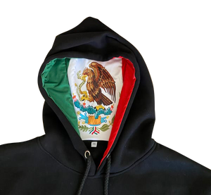 Mexico Cotton Hoodie With Flag