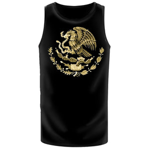 Men Muscle Shirts With Gold Mexico Eagle (FREE HAT)