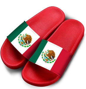 Red Mexico Flag Slides (Women/Men)