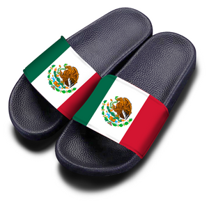 Mexico Flag Slides Black (Women/Men)