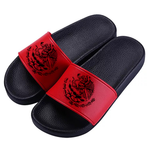 Mexico Eagle Black Symbol Slides Red/Black (Women/Men)