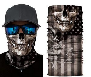 American Flag Skull Blacked Out