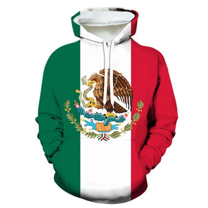 Mexico Custom Flag Light Hoodie