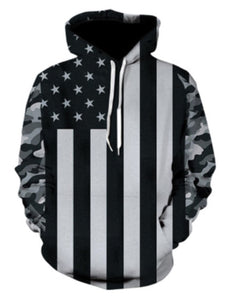 Custom American Flag Camo Light Hoodie