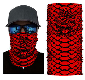 Red Custom Design With Black Pattern Logo