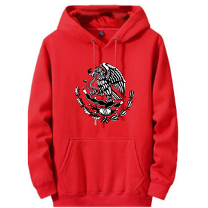Red Cotton With Black Mexico Eagle Logo