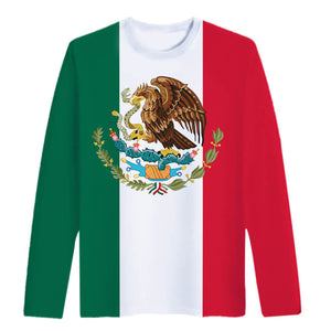 Mexico Flag Shirt Long Sleeve