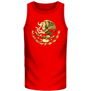 Women Muscle Shirt Custom Red With Gold Eagle (Free Hat)