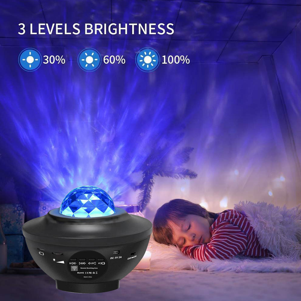LED Galaxy Projector with Sound for Bedroom