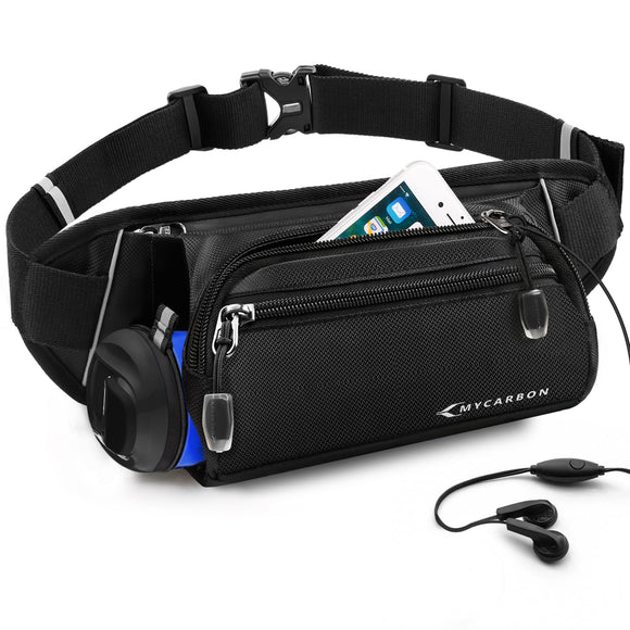 MYCARBON Running Belt with Water Bottle Holder