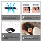 MYCARBON Real Silk Eye Mask Sleep Mask for Women  Men and Kids